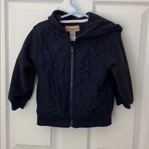 Quilted Fleece/Nylon Jacket